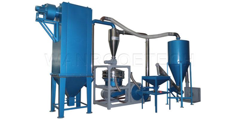 塑料磨粉机的研磨过程及影响物料质量的因素